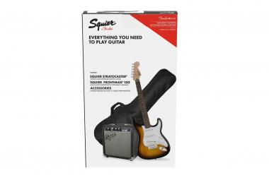 Fender pack squier affinity stratocaster brown sunburst 10g