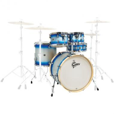 Gretsch cs1-j405 shell set catalina birch limited blue silver duco