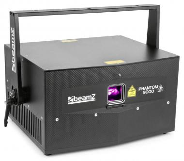 Beamz phantom 9000 pure diode laser rgb analog in case