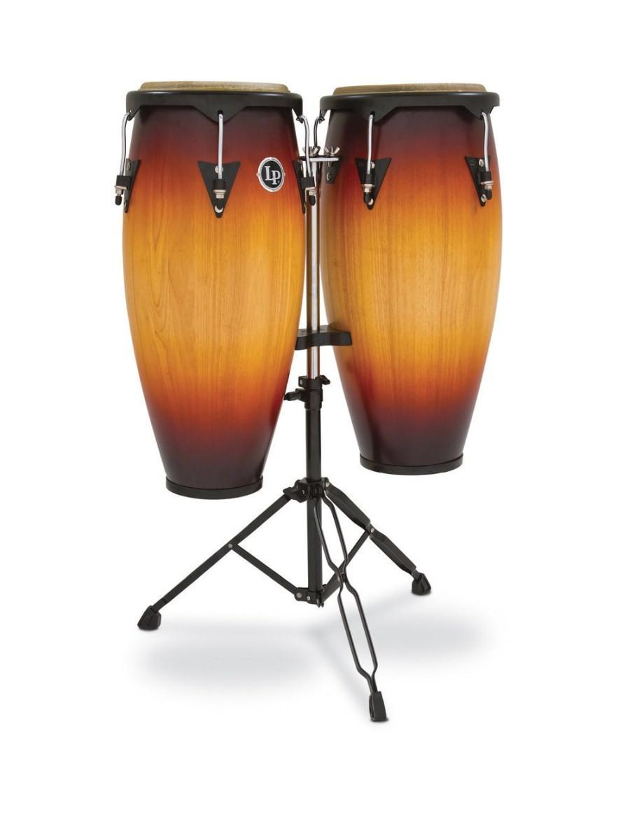 "LATIN PERCUSSION LP646NY VINTAGE SUNBURST COPPIA DI CONGAS 10"" E 11"""