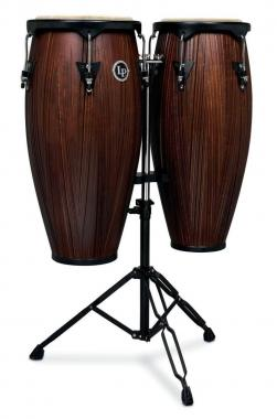 "LATIN PERCUSSION LP646NY CARVED MANGO / BLACK POWDER SET CONGA 10"" & 11"""