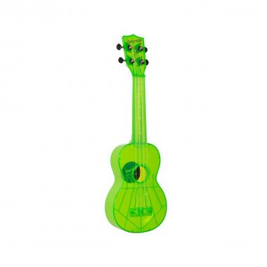 KALA KA-SWF-GN - Ukulele soprano Waterman - Fluorescent Sour Apple Green - c/borsa