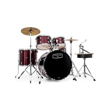 Mapex tnd5254tcdr batteria tornado rock set burgundy red cassa 22