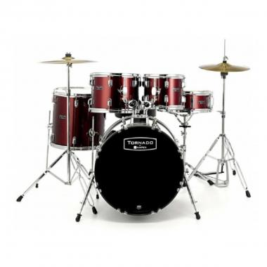 Mapex tnd5044tcdr batteria tornado studio set burgundy red cassa 20