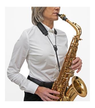 YUHUA Cinghia per Sassofono Tracolla per Sassofono Tracolla Singola per Sax Tracolla per Sassofono Imbottita Regolabile in Pelle con Gancio in Metallo
